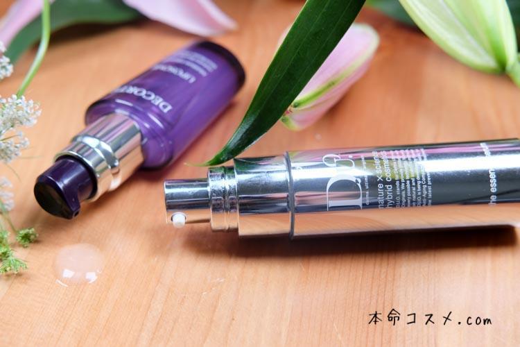 【小顔効果比較】DUOデュオザエッセンスセラムとコスメデコルテモイスチュアリポソーム導入美容液口コミ